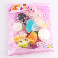 Wholesale Cheap Kawaii - Wholesale Squishy Phone Straps Kawaii Rilakkuma Donut Cute Phone Straps Bag Charms Slow Rising Squishies Jumbo Buns Cheap Charms Free DHL