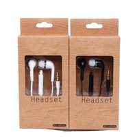 Wholesale Stereo Earphones mm earbuds with Mic Remote Volume Control headset headphones for Samsung galaxy s3 s4 s5 note mp3 A In Ear