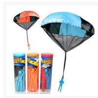Wholesale parachute balls - Wholesale- Hand Throwing kids mini play parachute toy soldier Outdoor sports Children's Educational Toys