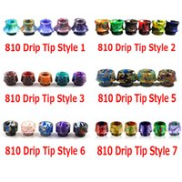 Wholesale Drips Tips - 810 Thread Drip Tips Cone Shape Resin Snake Skin 4 Styles Mouthpiece for SMOK TFV8 TFV12 TFV8 Big Baby Tank Kennedy RDA With Retail Package