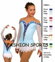 Wholesale Graceful Dresses For Girls - Hot Selling Ice Skating Dress For Girls Spandex Graceful New Brand Figure Skating Competition Dress Customized DR2646
