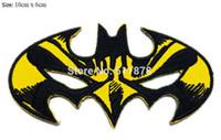 Wholesale Batman Bat Man Mask - SUPER HERO BATMAN BAT MAN MASK Logo Crest Badge TV movie fancy Embroidered sew on iron on patch applique dropship