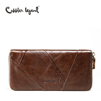 Wholesale Trend Notes Wholesale - Wholesale- Cobbler Legend 2017 New Retro Trend Women's Wallets For Lady Genuine Leather Thin Clutch Wallet For Girls Long Coin Card Purses