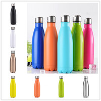 Wholesale Water Bottles For Children - 2017 Wholesale Cola Shaped Bottle 17oz 500ml 10colors Cola Water Bottle for Sports Yoga Thermo Water Mug