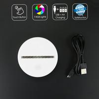 Wholesale Dc Led Panel Light - White LED Lamp Base 10 SMD LEDs for PMMA Acrylic Light Panel AA Battery or DC 5V Factory Wholesale