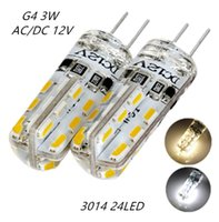 20PCS G4 LED Lamp DC 12V SMD3014 Silicone 3W Replacement 20W Halogen Bulb 360 Beam Angle e Lighting Spotlight