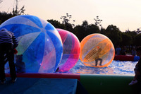 walk water balls Australia - 2m Inflatable Water Walking Ball Water Balloons Zorb Balls Giant Inflatable Beach Ball Water Bubble Ball
