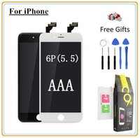 Wholesale Iphone Display Film - 1Pcs For iPhone 6Plus (5.5'') LCD Display Digitizer Touch screen with Full set Assembly Toughened glass protective film & Open Tools
