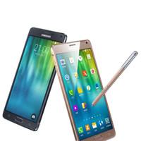 Wholesale Cellphone Inches - Samsung Galaxy Note4 Note 4 N910A N910T N910F N910V N910P 4G LTE Cellphones 5.7 Inch 3G RAM 32G ROM Unlocked Original LCD