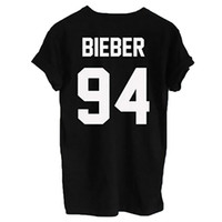 Wholesale Flash Age - Wholesale- 2016 Fashion Justin Bieber T Shirt Mens Boy Rock Hip Hop Short Sleeve Name And Age T-shirt Tumblr Clothing