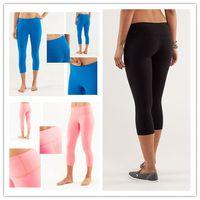 Wholesale Size Slimming Leggings - 2017 selling Brand Logo WomanYoga Elastic Pants pantalones Lulu Leggings Sexy Lady Fitness Gym Pants Size 2 4 6 8 10 12