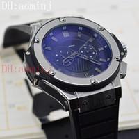 Wholesale Geneva Style Watch - Sapphire Mirror Geneva Silver watch luxury man mechanical sports style automatic calendar black surface watch ru