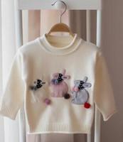 Wholesale Kids Free Sweater Patterns - New brand 2017 Children clothing spring autumn cartoon sweater coat kids long sleeve rabbit pattern pullover sweater Free shipping