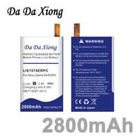 Wholesale battery for xperia - Da Da Xiong 2800mAh LIS1574ERPC Li-ion Phone Battery for Sony Xperia E4 E2003 E2033 E2105