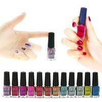 nail polish - LULAA Colors Metallic Nail Polish Pure Color ml Mirror Effect Shiny Metal Polish Varnish nail art polish