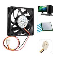 Wholesale Desktop Cpu Cooling Fan - Wholesale- 70*70*15mm DC 12V 3Pin Internal Desktop Computer CPU Case Cooling Cooler Silent Fan 7cm