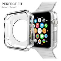 Per Apple Watch Series 1 o 2 38 42mm Soft TPU Custodia protettiva iWatch CLEAR