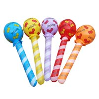 Wholesale Prop Hammer - Large inflatable toys Stuffed club lollipop toy model hammers activity props 1 order