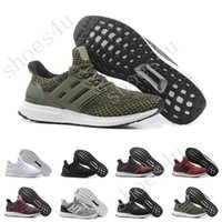 Wholesale Canvas Shoes Eva Flat - (With Box) Ultra Boost 3.0 Core Black real boost Mens and women Casual Shoes Running shoes for men sports ultraboost ronnie fieg Size 36-47
