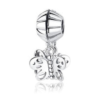 Wholesale spiked vintage - Authentic 925 Sterling Silver Original Vintage Love Knot With Clear CZ Dangle heart mom Charm Fit European pandora Braclet & Necklace