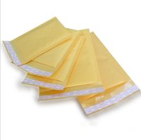 Wholesale Envelope Supply Bags - Kraft Bubble Mailers Padded Envelopes Bags Paper Gift Wrap CD Size 122X178MM +40MM Party Supplies DHL