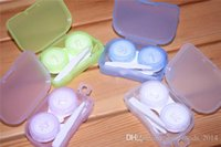 Wholesale Travel Contact Lens Case Holder - Best Transparent Pocket Contact Lens Case Travel Kit Easy Take Container Holder b740
