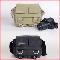 Wholesale Canvas Dslr Camera Shoulder Bag - high quality NATIONAL GEOGRAPHIC Professional DSLR camera bag  case For 18-55mm lens D3000 D3100 D5000 D5100 550D 600D