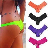 Wholesale Cheap Thong Swimwear - Quick selling all match thong bikini swimwear women thong bathing suits swimsuit brazilian biquini wholesale cheap thong