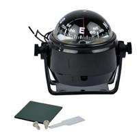 Wholesale Wholesale Marine Electronics - Hot Sale-Sea Marine Electronic Digital Compass Boat Caravan Truck 12V LED Light Black White