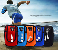 Wholesale Galaxy Arm Band - Waterproof Universal Running Phone Bag Sport Arm Band Case For Iphone 7 7plus 6 6s Samsung Galaxy S7 S6 LG