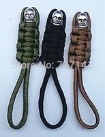 Wholesale Paracord Zipper Pulls - Free Shipping 6 pcs Parachute Paracord Survival Skull-Mummy Keychain - Zipper Pull,550 Skull Paracord Key Chain