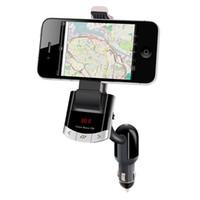 çakmak telefon tutacağı toptan satış-Toptan-Bluetooth Araç Kiti FM Verici Telefon Dağı Araç Tutucu Handsfree Çağrı Çakmak iPhone Samsung için Şarj