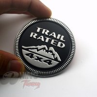 All'ingrosso-Nero TRAIL RING 4X4 METALLO decalcomania posteriore del distintivo posteriore del baule dell'autoadesivo dell'auto per Jeep Grand Cherokee Wrangler Rubicon