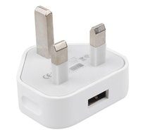 Wholesale Full Blackberry Housing - Original Housing Three Pin Iphone Charger Full 1A Original Quality UK Plug USB Wall charger AC Wall Power Adapter