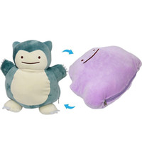 "Wholesale Stuffed Animals Anime - Hot ! 3pcs Lot Snorlax Ditto Metamon Pikachu Plush Stuffed Animals Toys For Child Best Gifts 12"" 30cm"