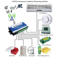 Wholesale Controller Sms Relay - Wholesale- 240VAC 3A Security alarm controller gsm sms RTU controller home automation with 8inputs S150 dry contact relay switch