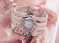 Wholesale Geneva Bangle Watches - Women Bracelets Geneva Wrist Watch Women Silver Love Charm Bracelet Bangle Wrist Watch Braid Leather Cord Crystal Watch