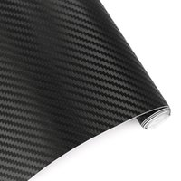 Wholesale Motorcycle Sheets - 60cmx10cm Car Styling 3D 3M Carbon Fiber Sheet Wrap Film Vinyl Motorcycle Car Stickers And Decals Squeegee Tool Accessories