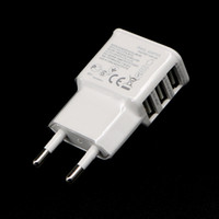 Wholesale Euro Adapter For Iphone Charger - Euro Plug 5V 2.0A 3 USB Ports Smart Fast Charger Power Adapter