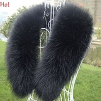 Wholesale Mens Black White Scarves - Hot Mens Shawl Stole Scarf Winter Women's Collar Faux Fur Collar Luxury Large Winter Shawl Natural Faux Raccoon Fur Stole Collars SV009878