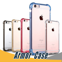 Wholesale Blue Side Cover - Transparent Shockproof Acrylic Hybrid Armor Bumper Side Soft TPU Back PC Case Cover For iPhone 6 6s 7 Plus Samsung S7 Edge Note 8 S8 Plus