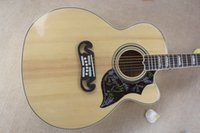 Wholesale Single Cutaway Guitar - Wholesale- Factory Custom Burlywood Spurce Top G J200 Acoustic Guitar SJ200 VS Electric Acoustic Single Cutaway Free Shipping
