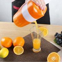 Wholesale Hand Orange Squeezer - Orange Juicer Squeezer Plastic Hand Manual Orange Lemon Juice Fruits Squeezer Citrus Juicer Fruit Reamers Fruit Vegetable Tools OOA2213
