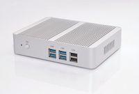 Wholesale dual celeron - Freeshipping Fanless Intel N3150 Mini PC Celeron Quad Core 1.6~2.08GHz Windows 10 Mini Computer Dual HDMI WiFi Dual LAN TV Box