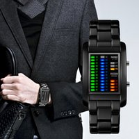 Wholesale High End Digital Watches - Men's high-end watch, LED display screen, fashion watch, creative personality watch, waterproof 50 meters.There is free gift