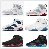 Wholesale Spring Bunnies - retro 7 men women basketball shoes pure money hare Bunny raptor french blue Bordeaux Hot Lava Verde black red white blue retro sneakers