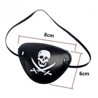 Wholesale Half One Costumes - Wholesale-Eye Patch Blindage accessories pirate One-eye Pirate Eyepatch with Flexible Rope for Christmas Halloween Costume Kids Toy