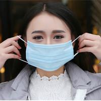 ingrosso respirare liberamente-50pcs / lot maschere usa e getta maschera antipolvere all'aperto su tre piani respirare liberamente e maschera antipolvere di bellezza