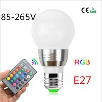 Full Color 5W RGB LED Stage E27 AC85V-265V LED Magic Ball Bulb <b>Disco DJ Party Club</b> lamp для праздничного оформления + дистанционный