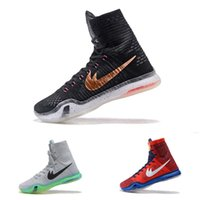 Wholesale Kb Shoes Elite - 2017 KOBE 10 ELITE Men's Christmas High Top Weaving Basketball Shoes Trainers Perspective KB 10 Sneakers Shoes size US8-12